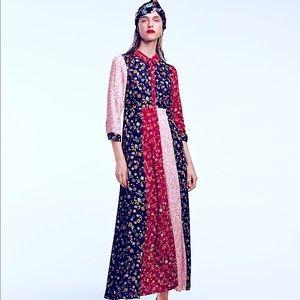 🆕🥀ZARA Floral Patchwork Button Down Maxi Dress